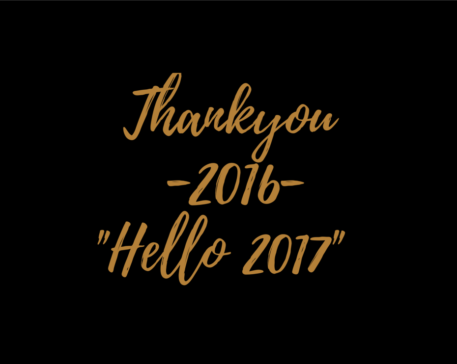Thank you 2016 – Hello 2017
